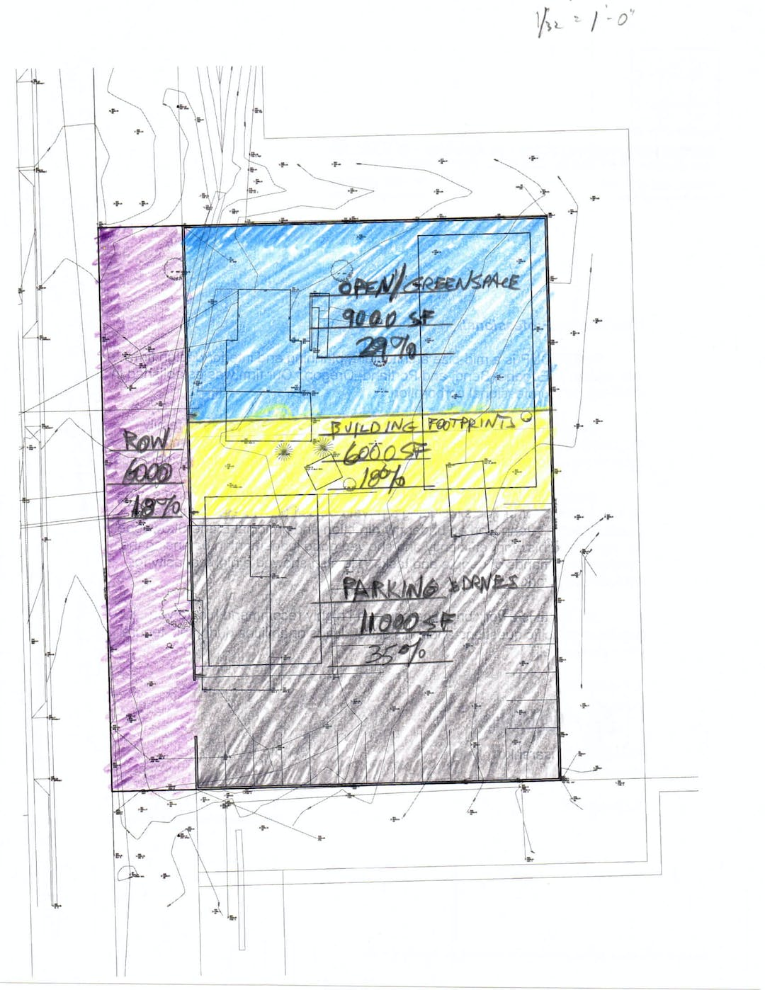 Conceptual Site Plan (with right of way dedication)