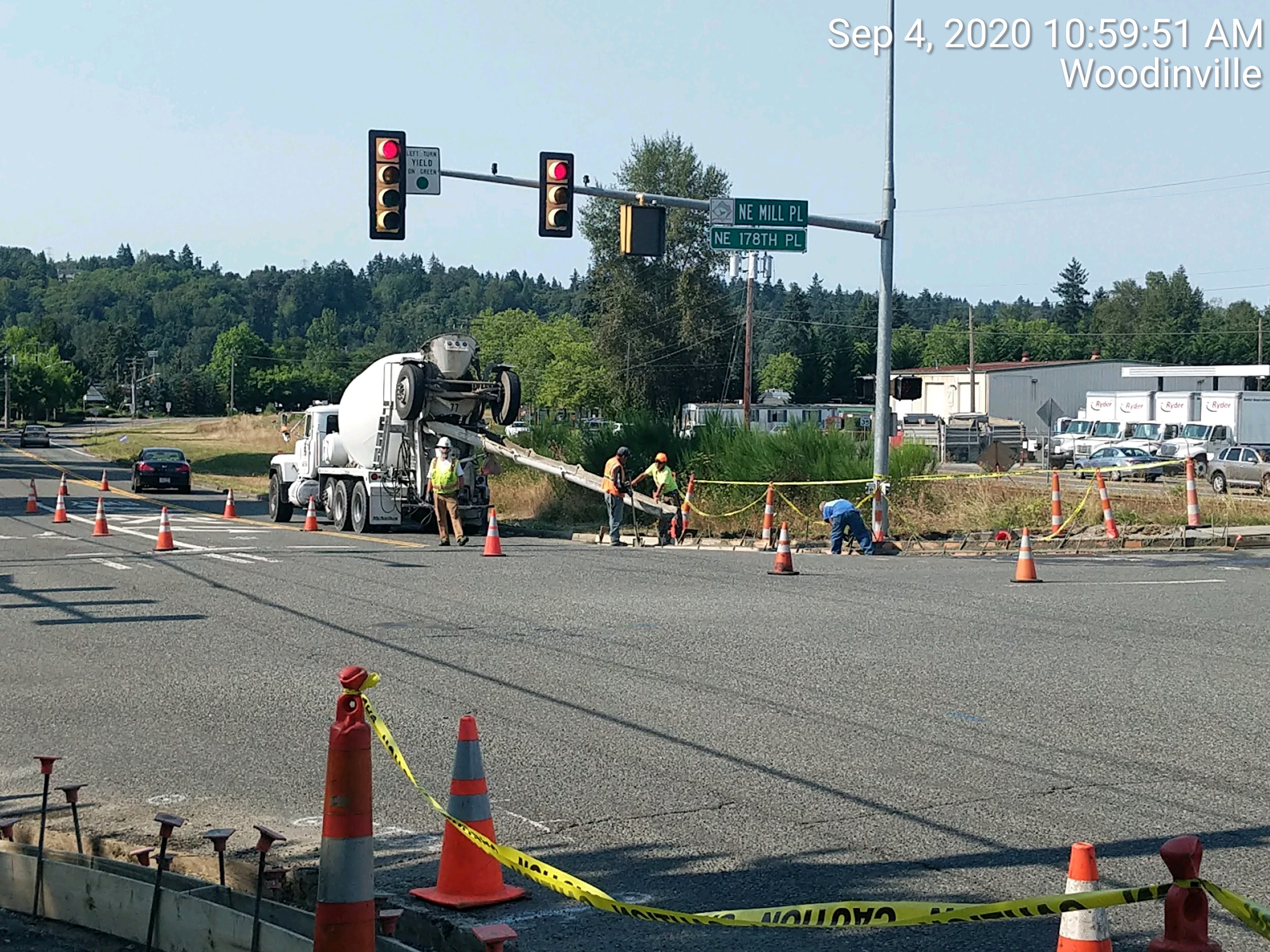 Wood-Sno Paving: Pouring curb and gutter on 178th.jpg