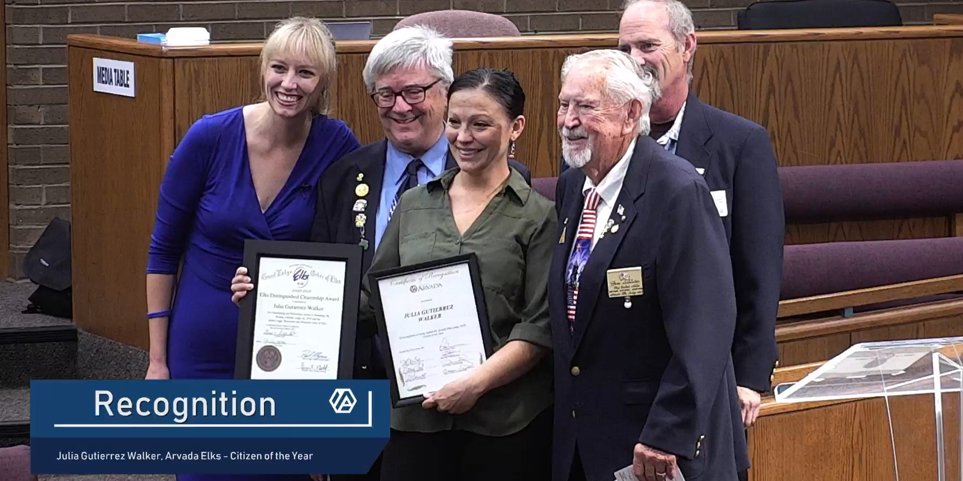 Julia Gutierrez Walker, honored by the City Council as Elks Lodge 2020 Citizen of the Year for providing free food and hygiene supplies to those in need