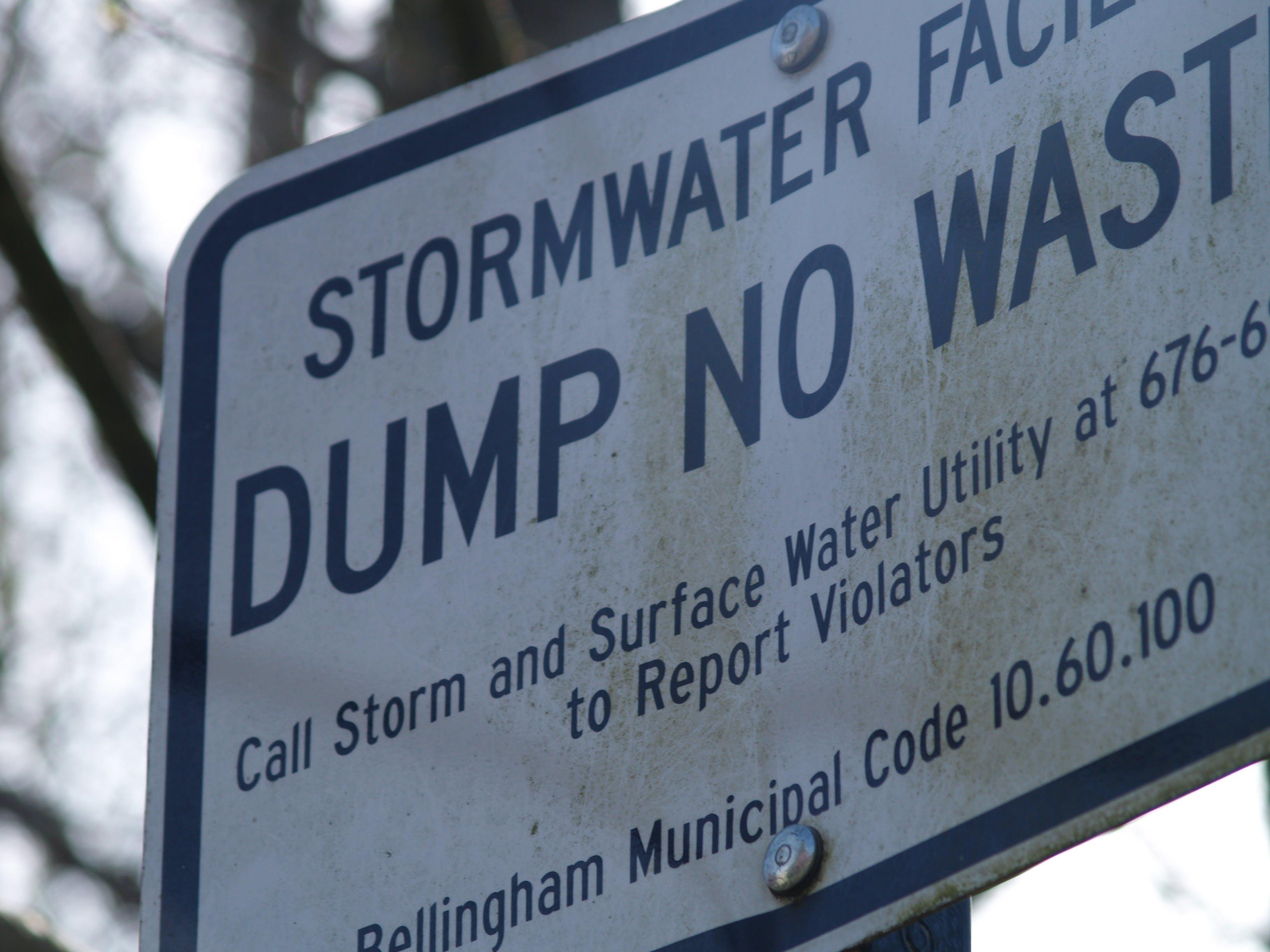 Dump No Waste Sign 2008