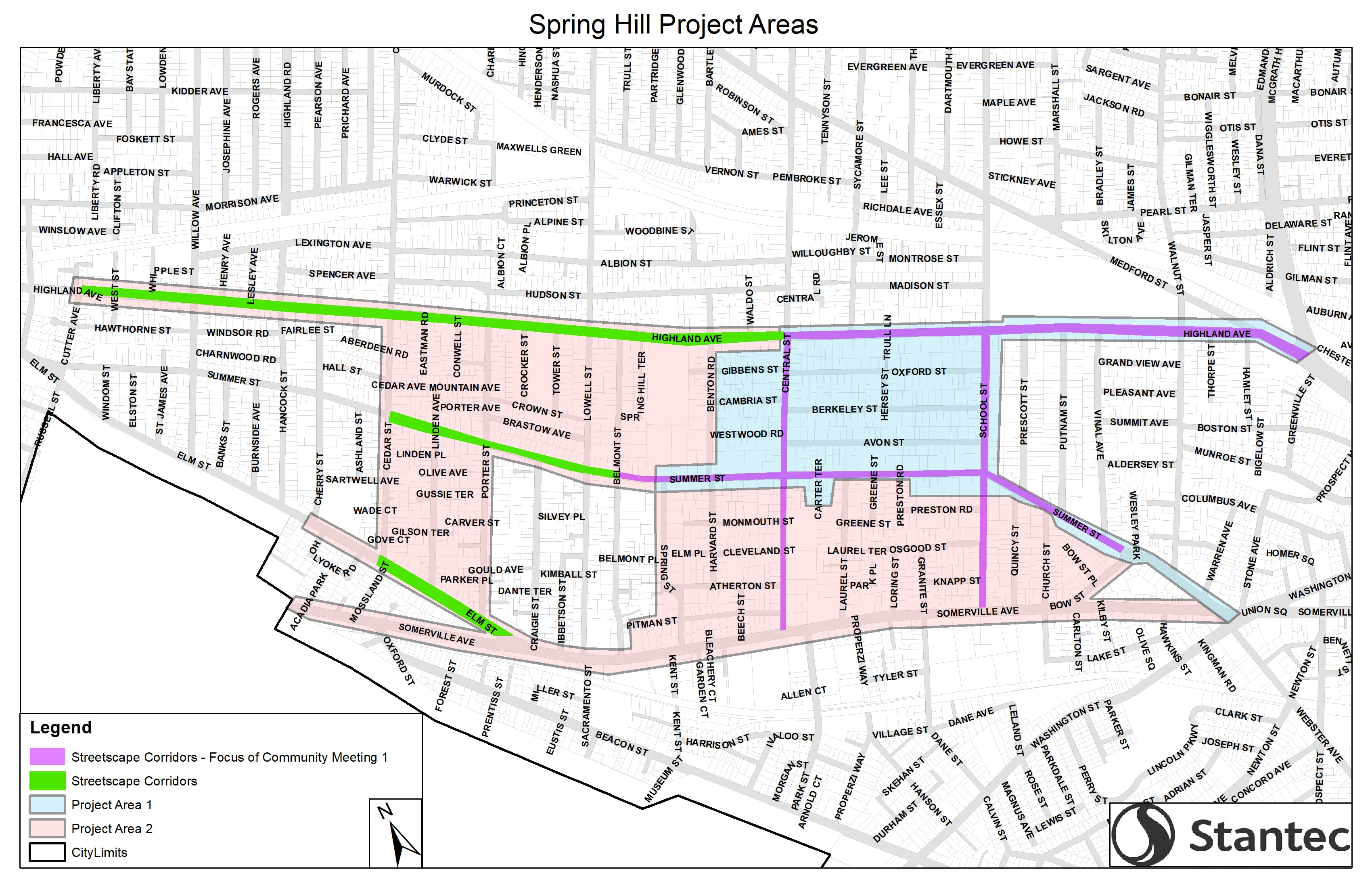 Spring Hill Project Areas
