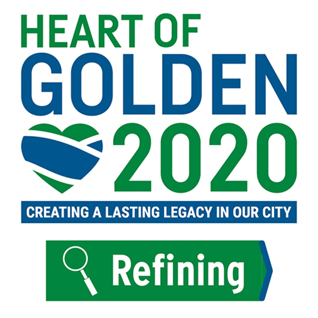 Heart of Golden 2020 logo - Creating a lasting legacy in our city
