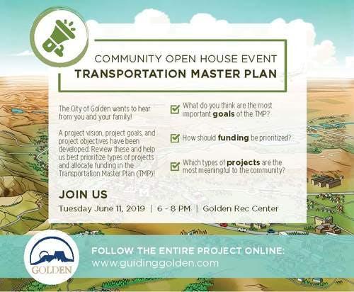 Transporation Master Plan Open House June 2019