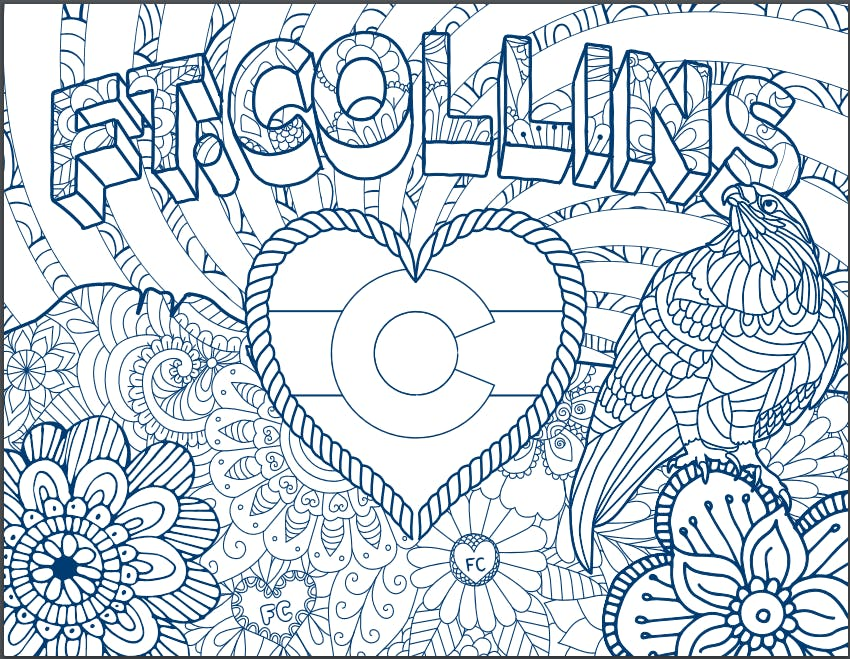 Print your own Fort Collins themed coloring page!