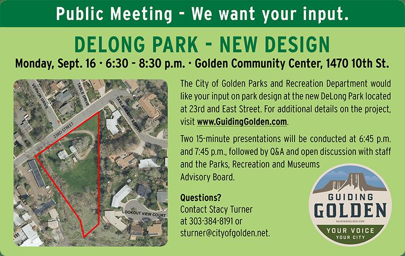 DeLong Park Public Meeting