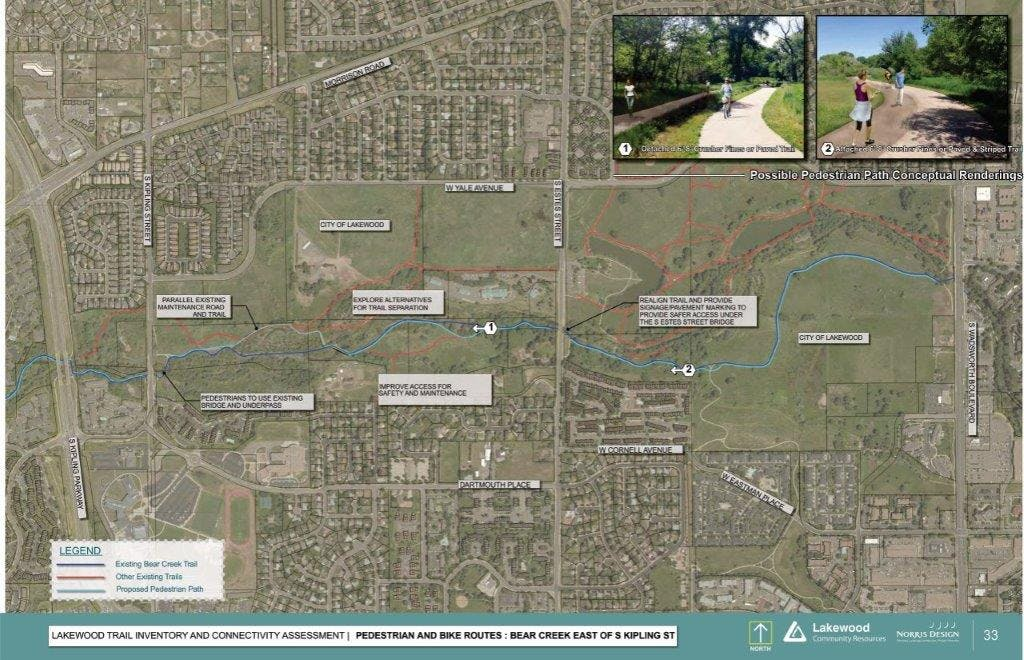 Improvements Map East of S. Kipling Parkway