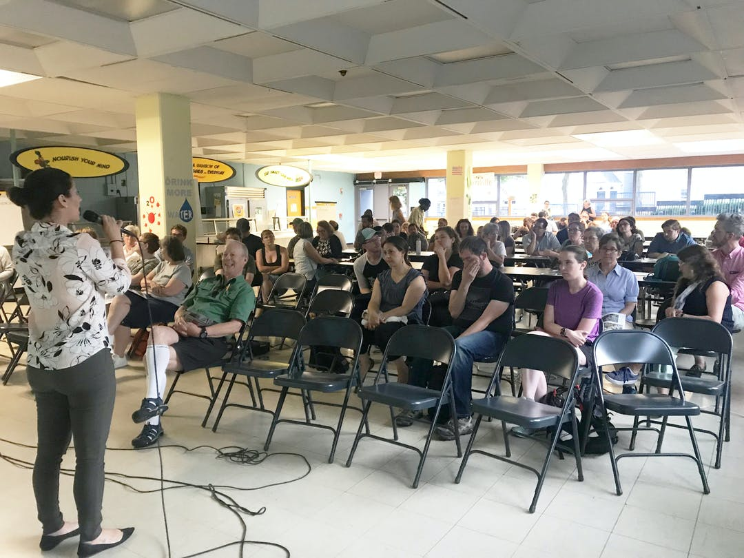 Photo from July 2019 Gilman Square meeting.