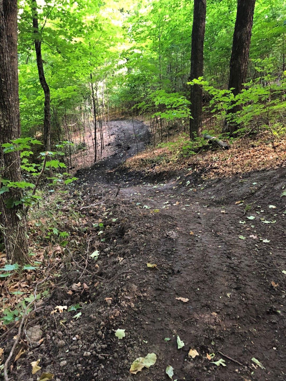 Singletrack trail construction