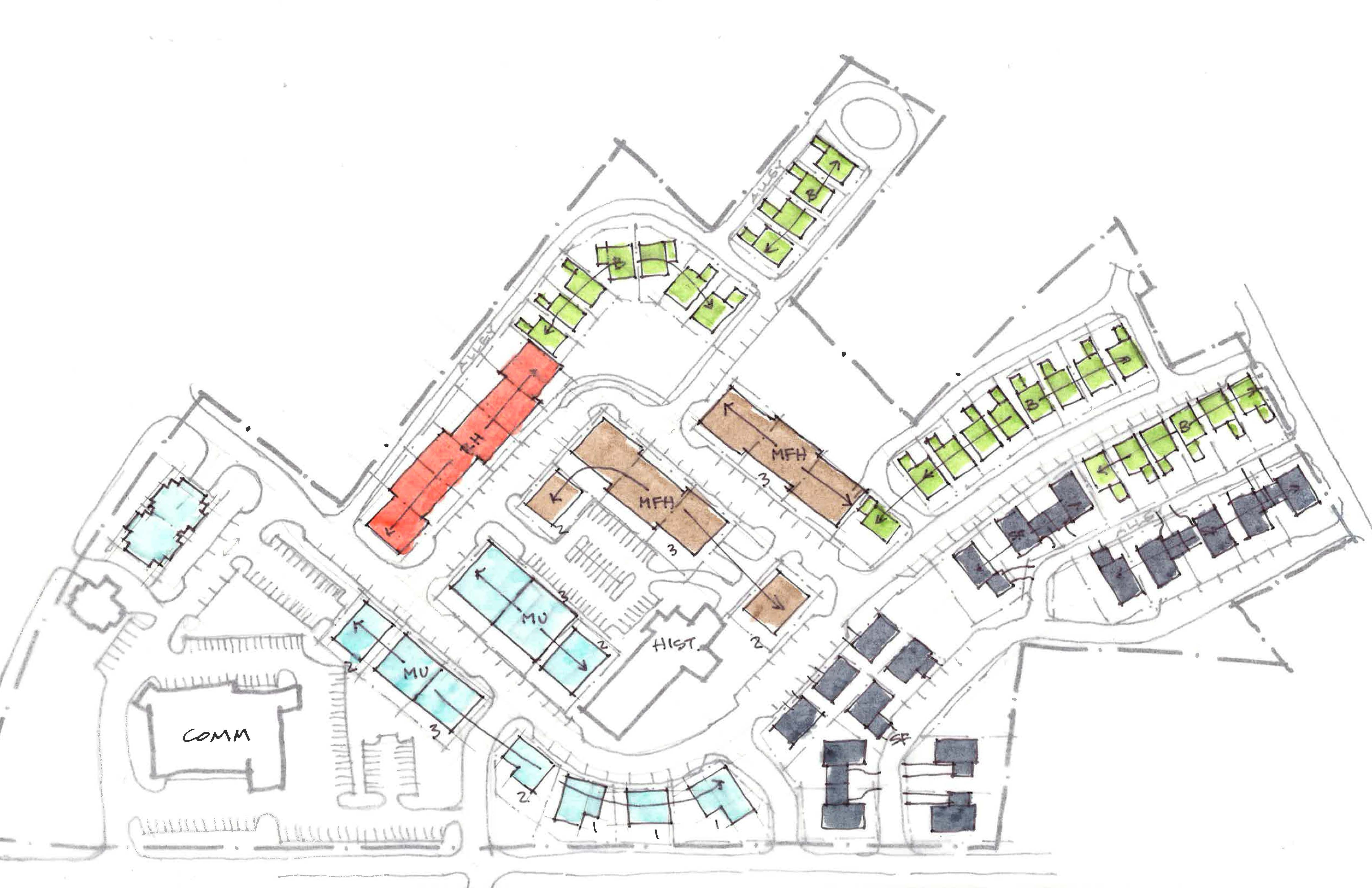Street layout plan With Uses