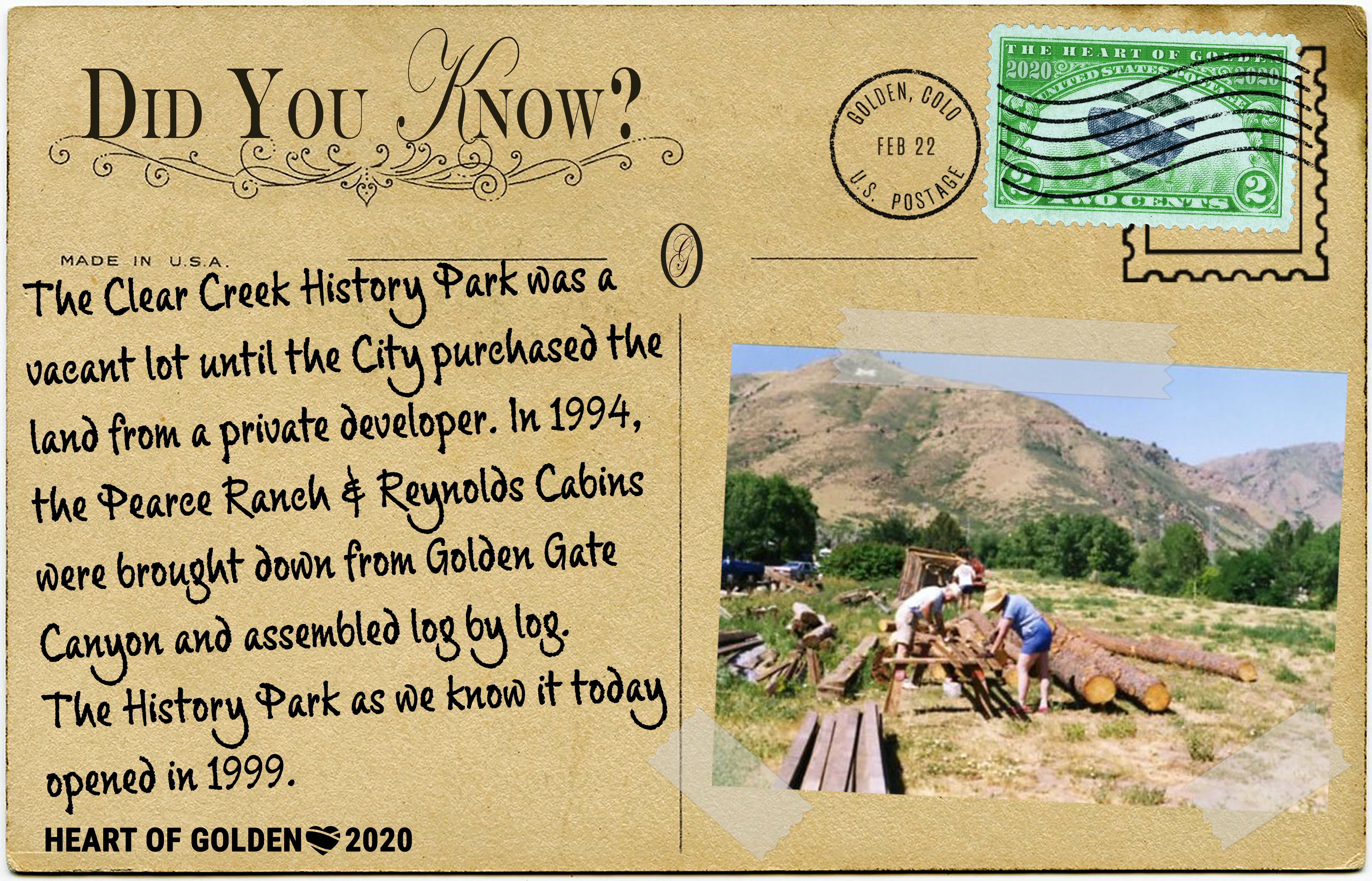 The Golden History Park was a vacant lot until the City purchased it in the early 90's!
