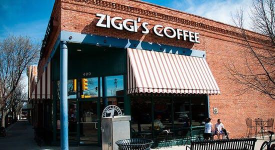 Customers sit outside Ziggi's Coffee April 24, 2014