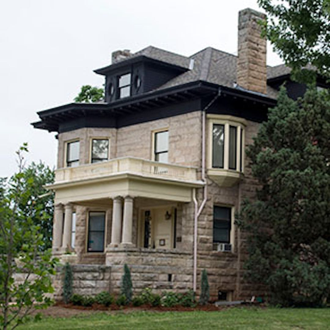 Harbeck-Bergheim House, a local historic landmark located at 1206 Euclid Ave.