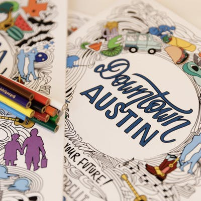 Kids and Adults of All Ages are Asked to Color their Future Downtown