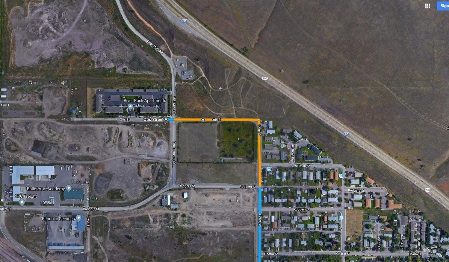 Location_Villagio Aerial Map of Otis Street Highlighted.jpg