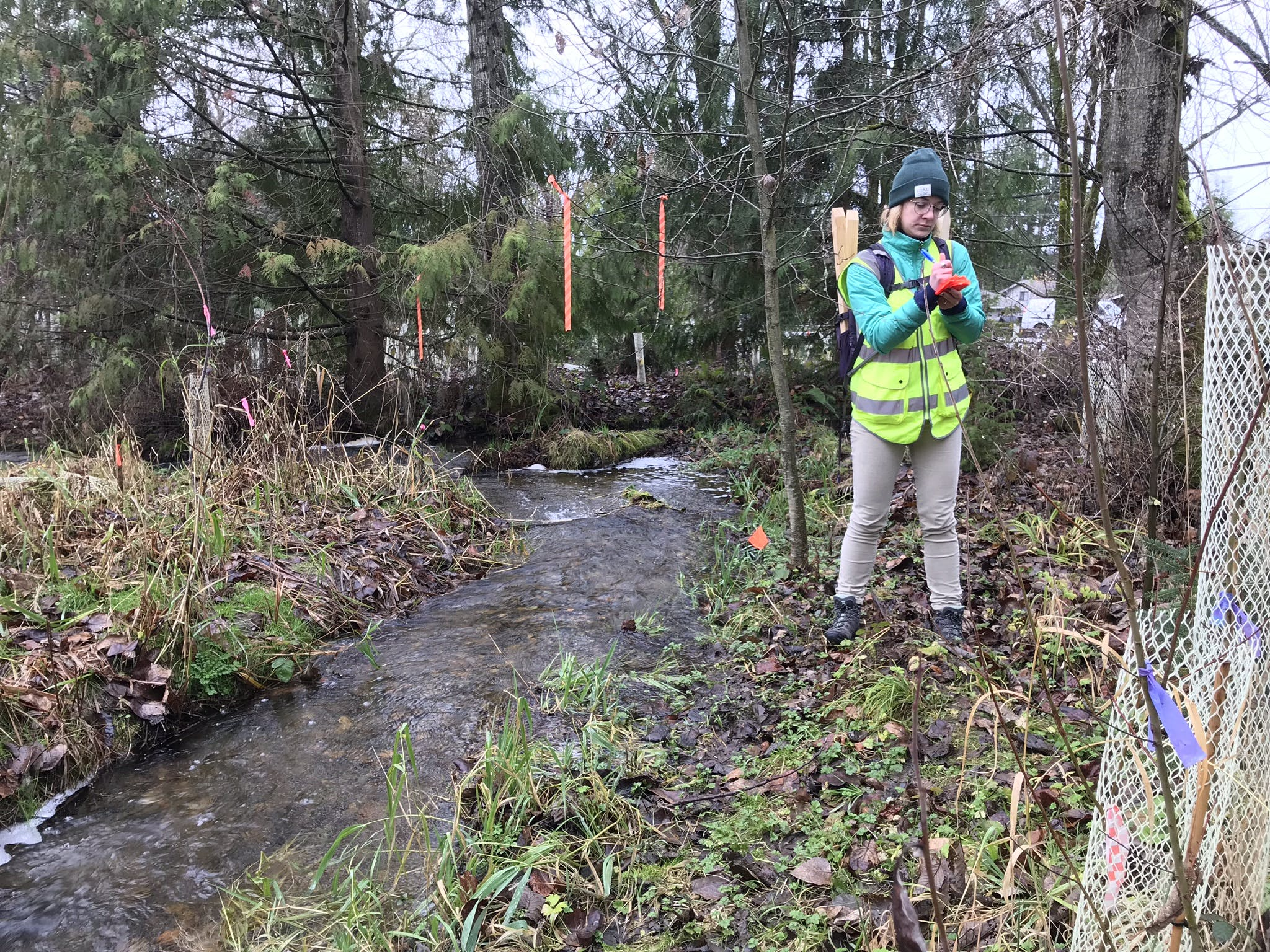 Field Work to Determine the Bank Full Width