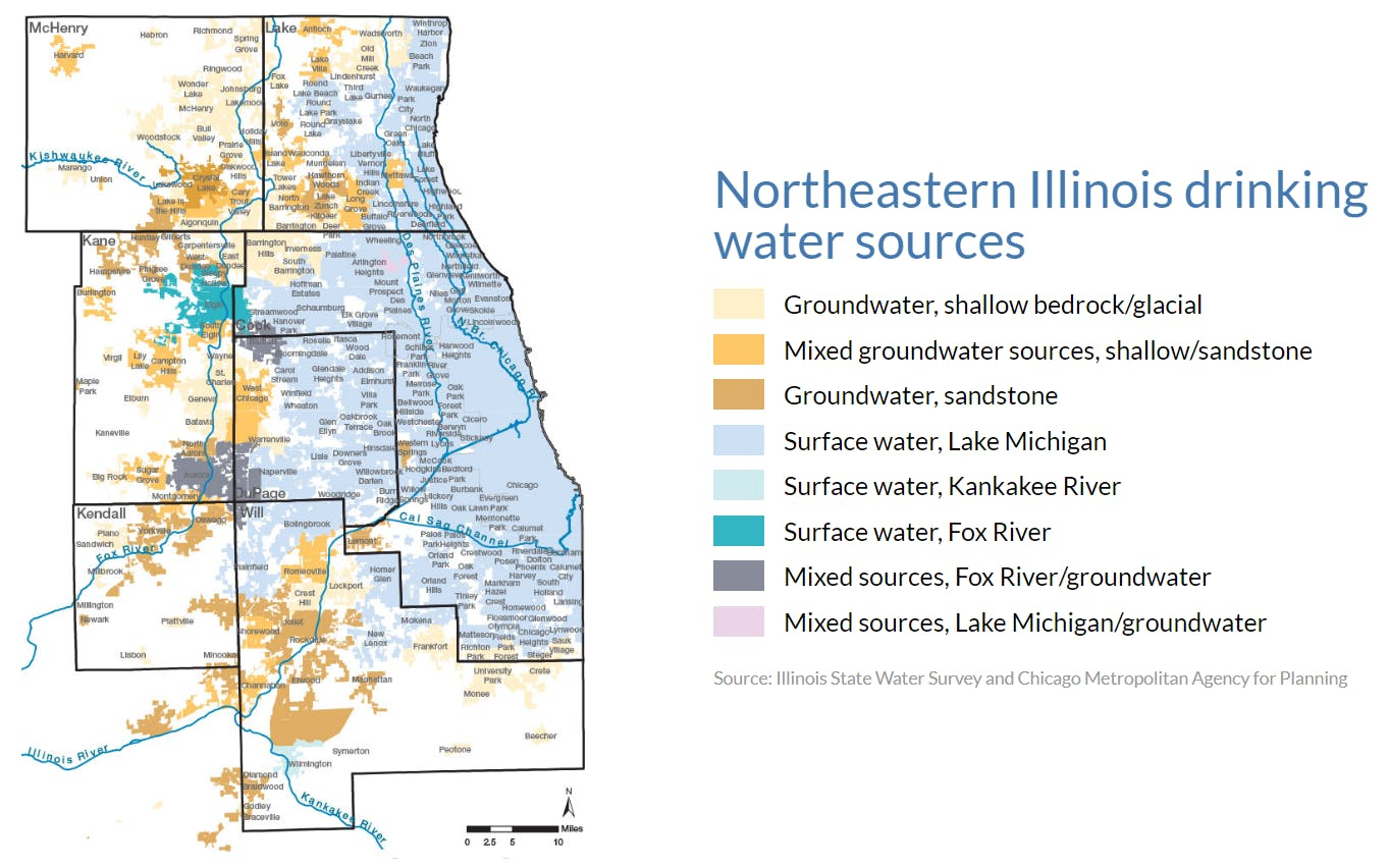 Sources of Drinking Water for NE Illinois