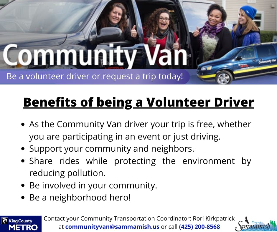 Benefits of being a Volunteer Driver