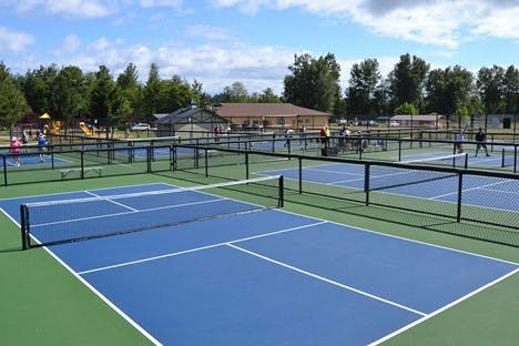 Courts with colors that accentuate ball color, too