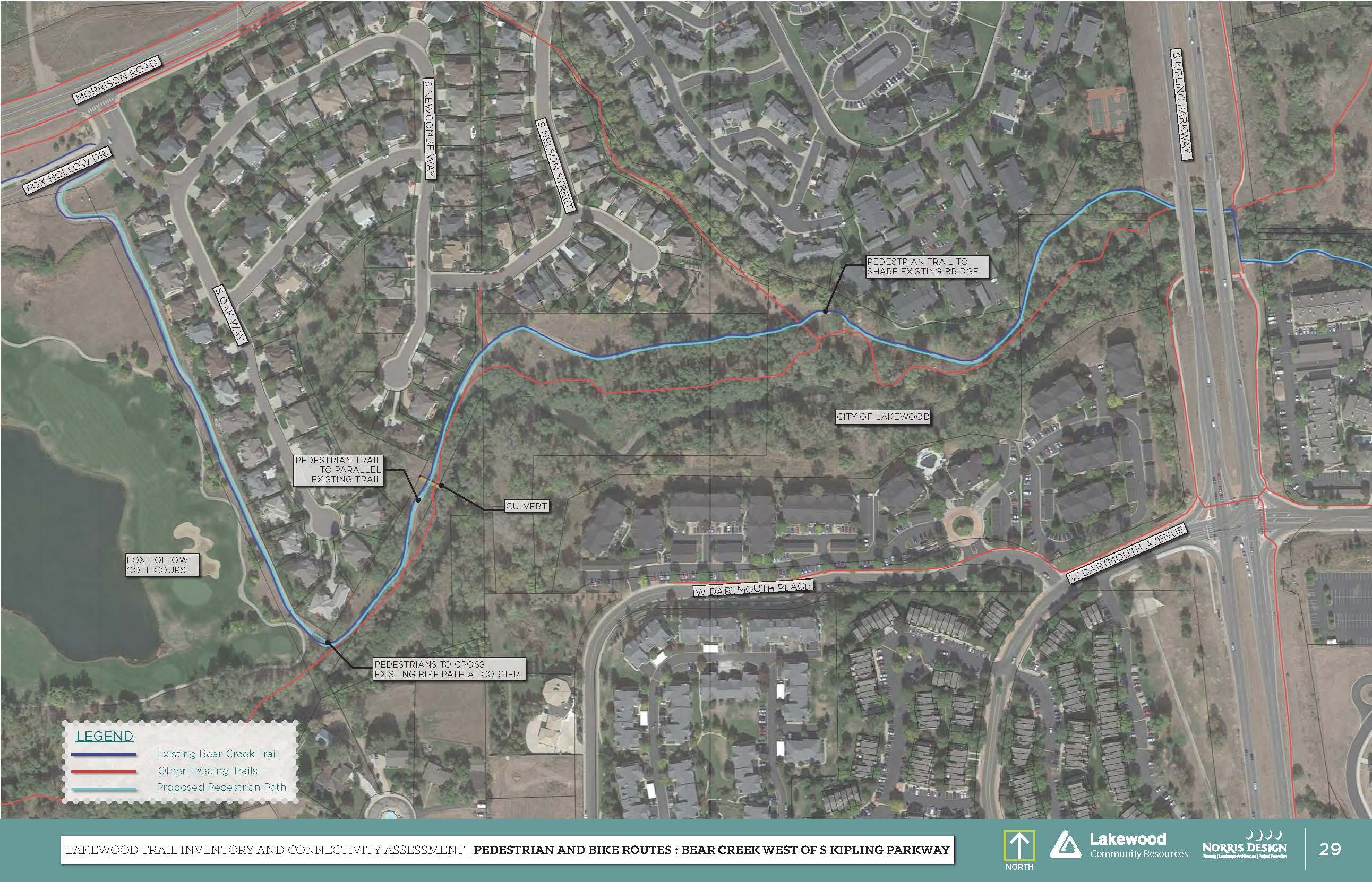 Improvements Map West of S. Kipling Parkway