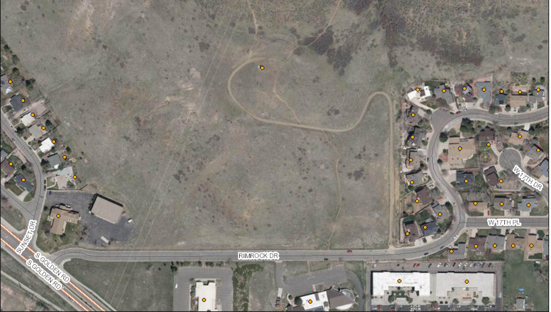 Arc GIS Rimrock Drive aerial view
