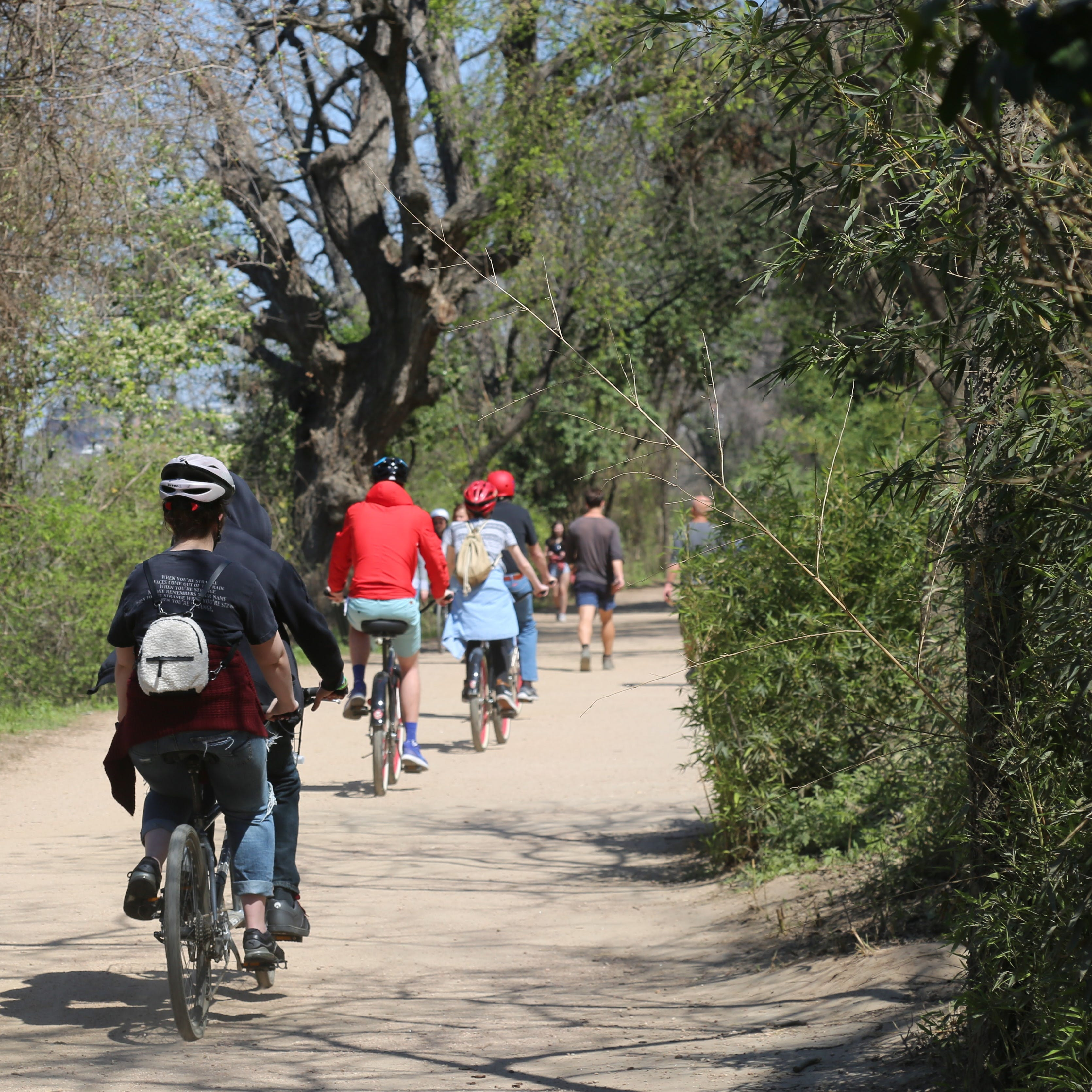Butler Hike and Bike Trail at Lady Bird Lake. Motorized scooters will not be allowed on this trail.