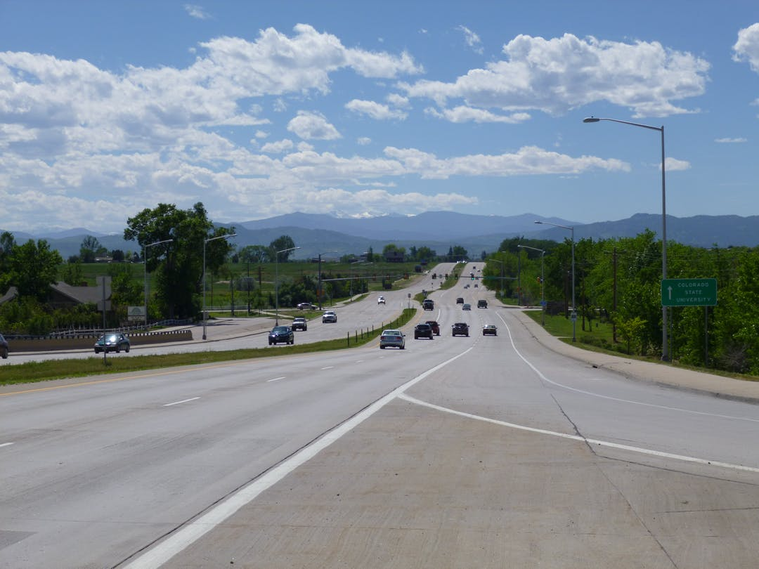Harmony Corridor looking west from I-25 Off-Ramp
