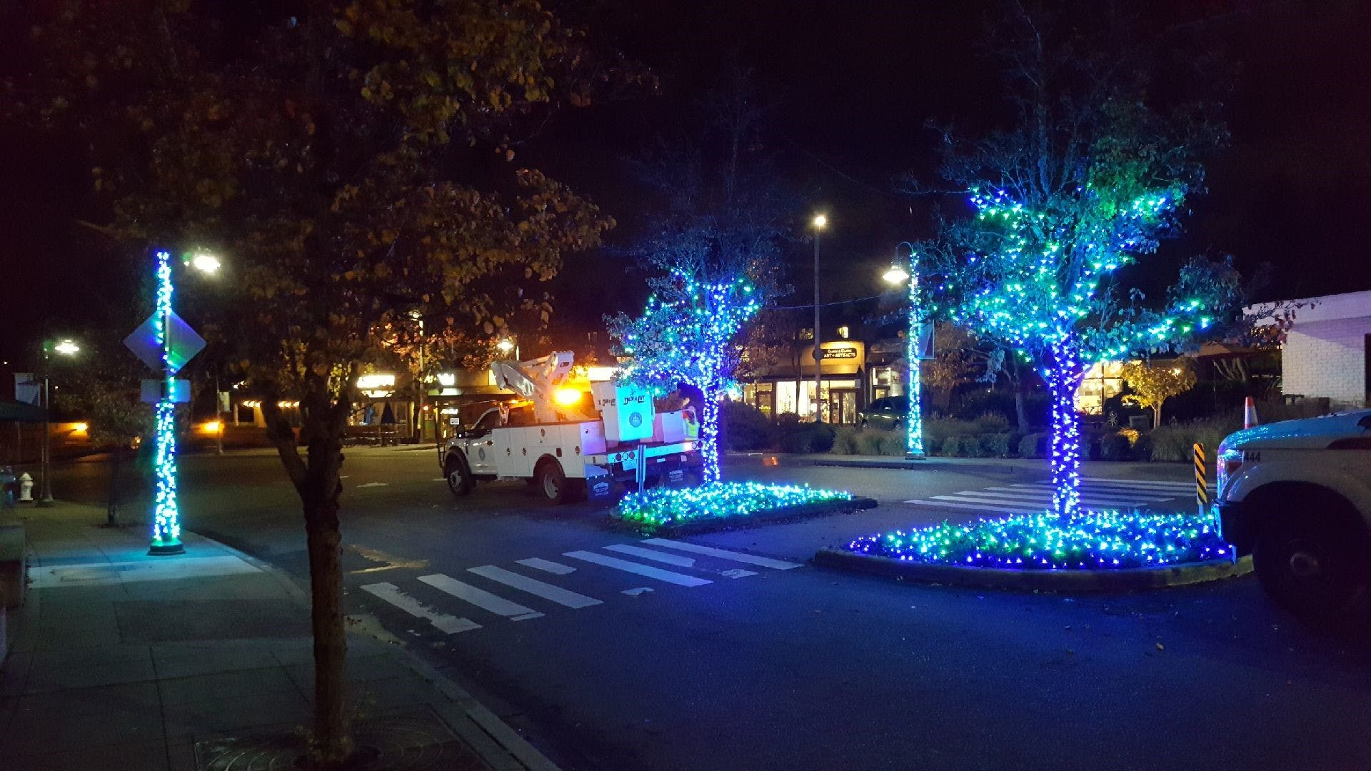 Illuminate MI Installation - Green and Blue