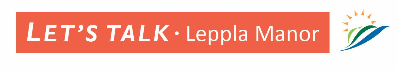 Let's Talk Leppla Manor Logo