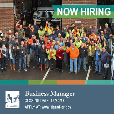 Now Hiring: Business Manager