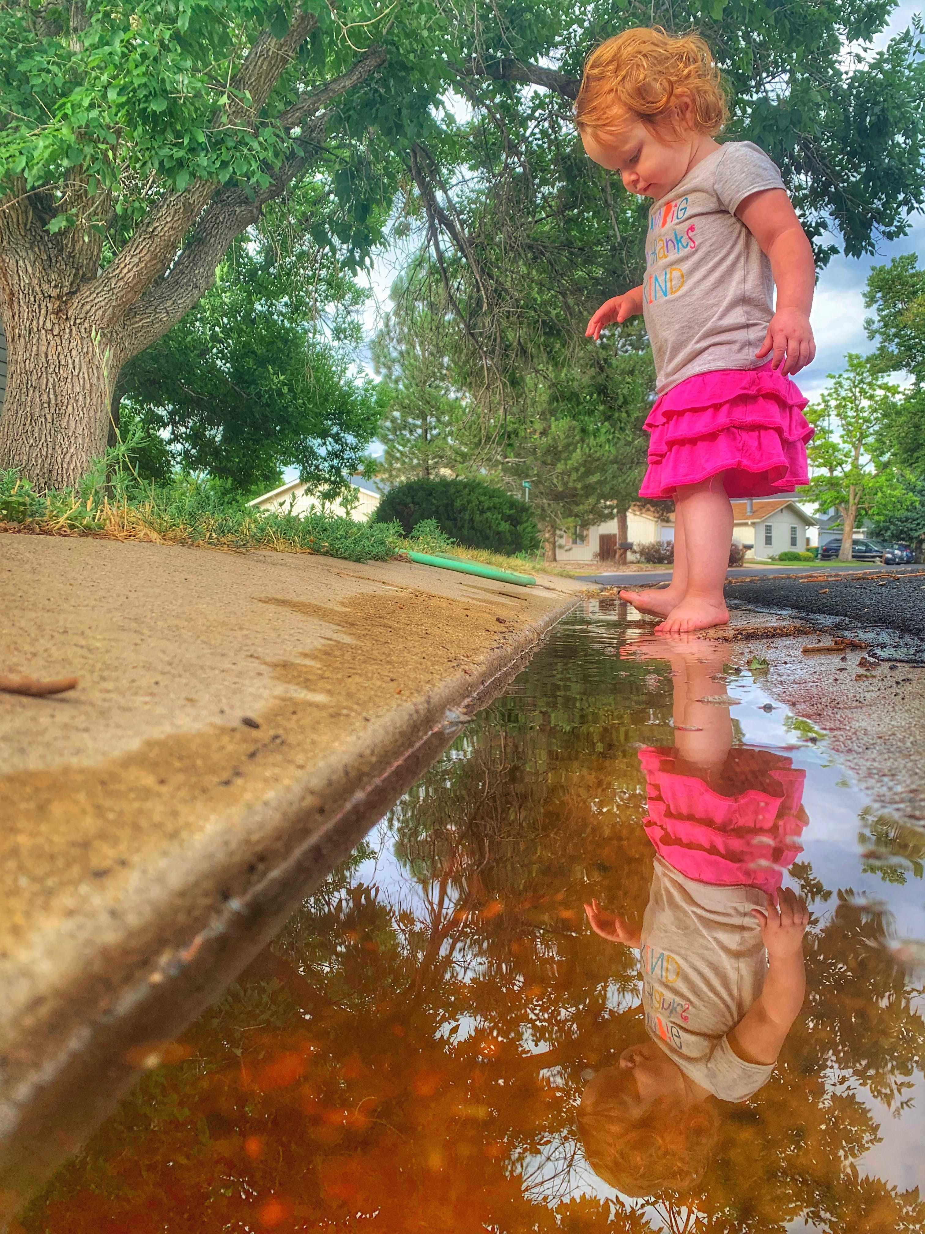 Splashing in the gutter!