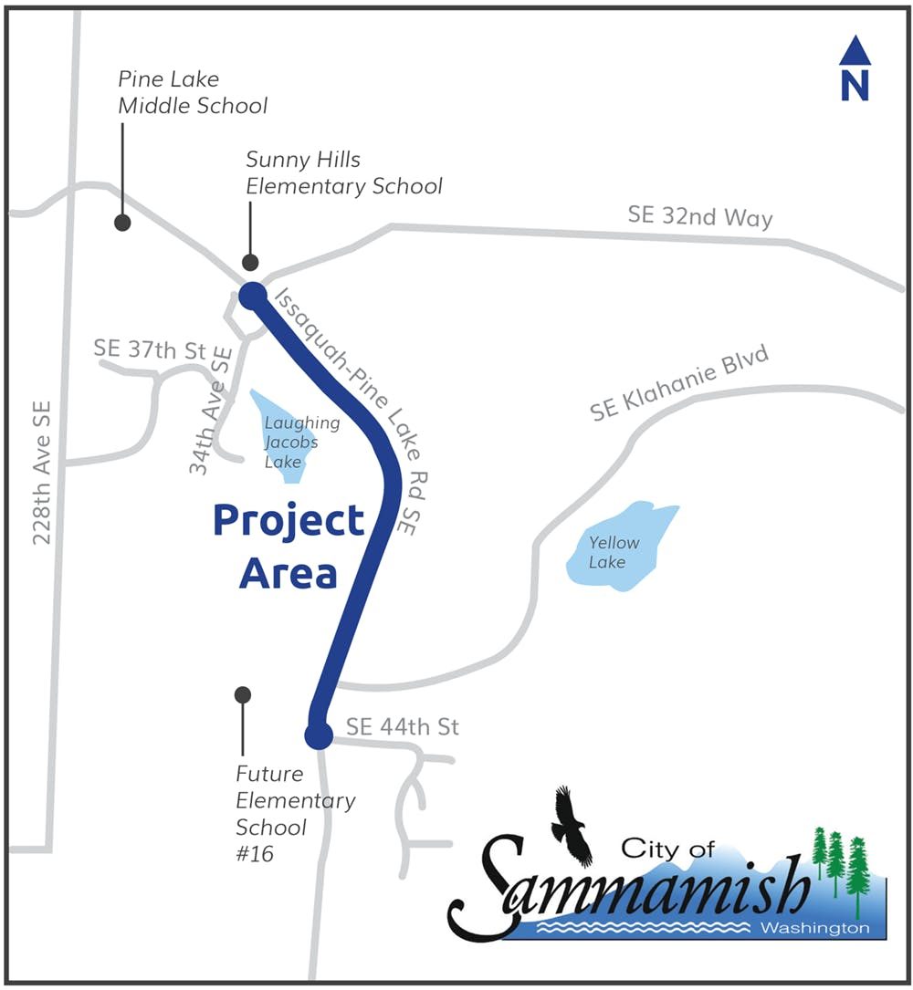 Map showing project area.