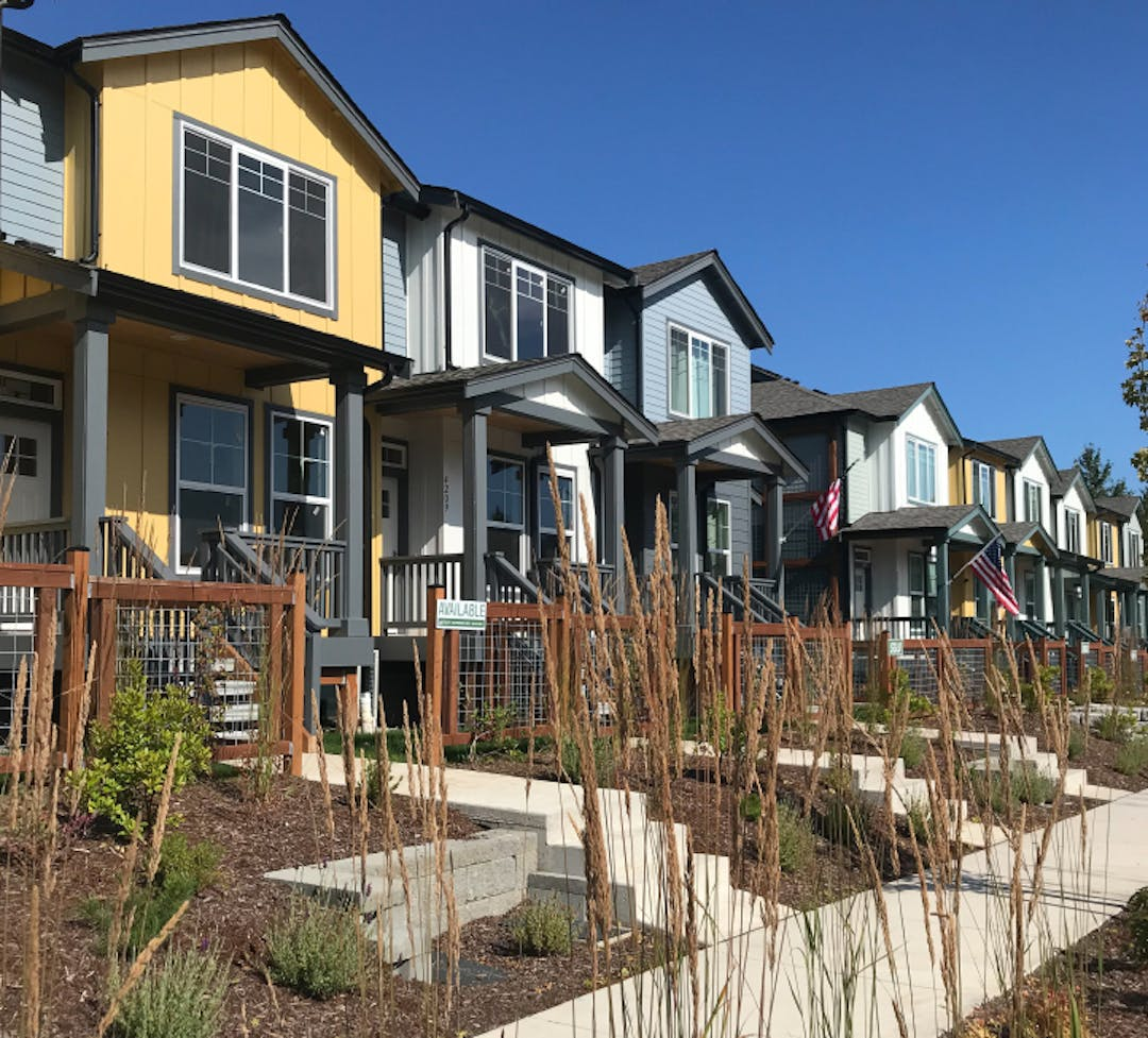 Picture of townhomes at Aurora Court in Bellingham