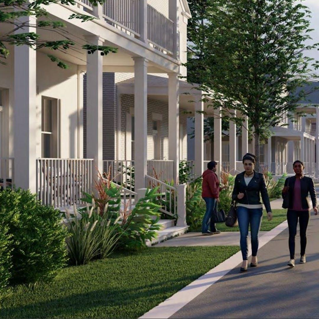 Rendering of Walkable Neighborhood Character