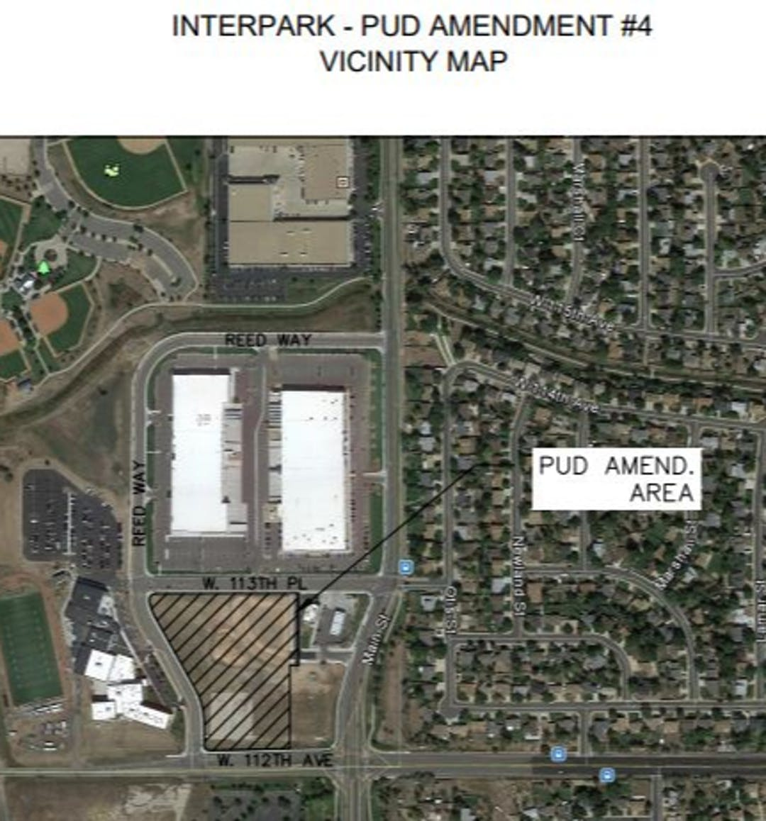 To permit Light Industrial Land Uses on Lot 1, Block 1 of Interpark Filing 1 Replat C and allow data centers in the light industrial land use description within the overall PUD Plan.