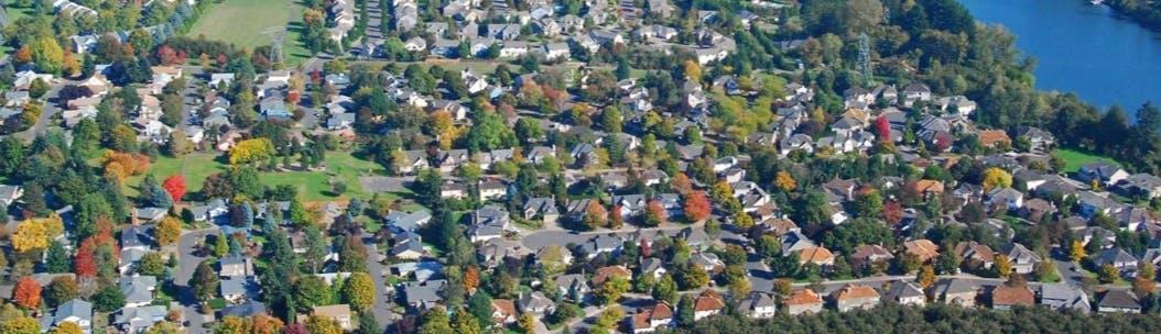 Overhead view of residential Wilsonville
