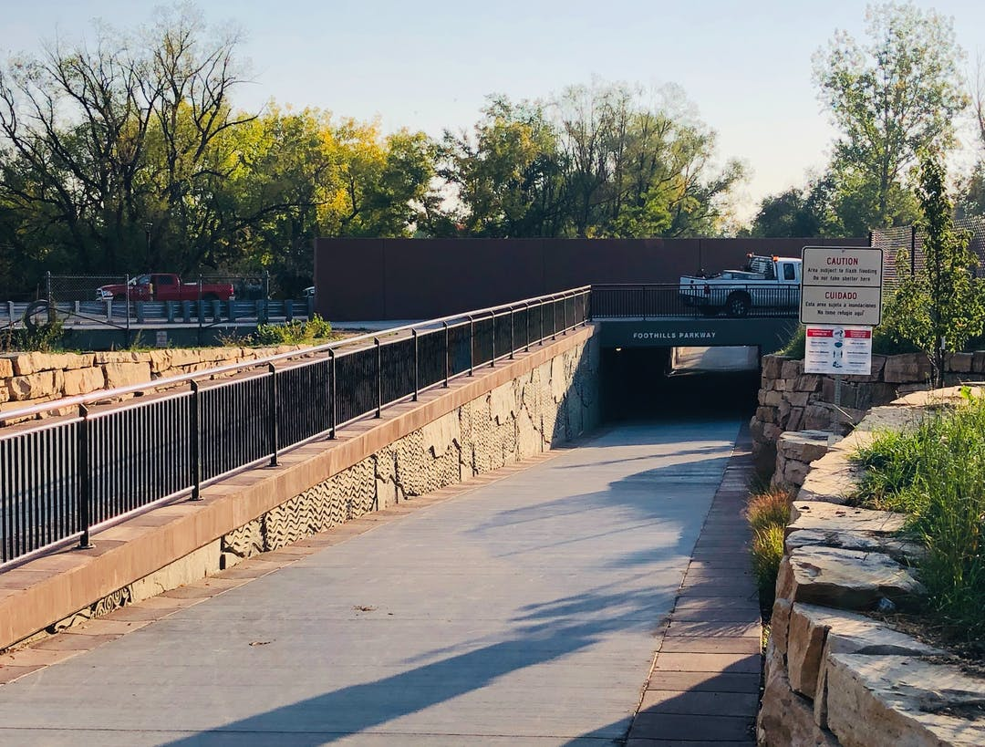 The Foothills Parkway Bike and Pedestrian Underpass, a Capital Improvement Project, was completed in October 2020.