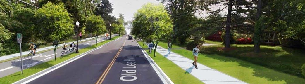 Old Lee Highway Multimodal Improvements Rendering