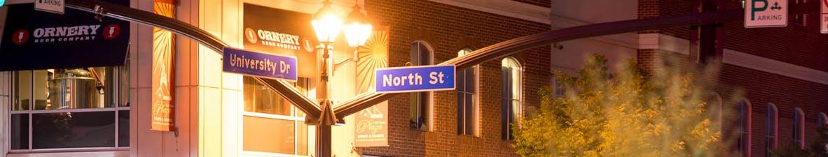 Old Town Fairfax at Night