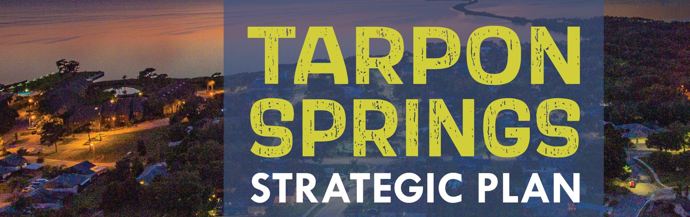 Aerial Image of Tarpon Springs at Night