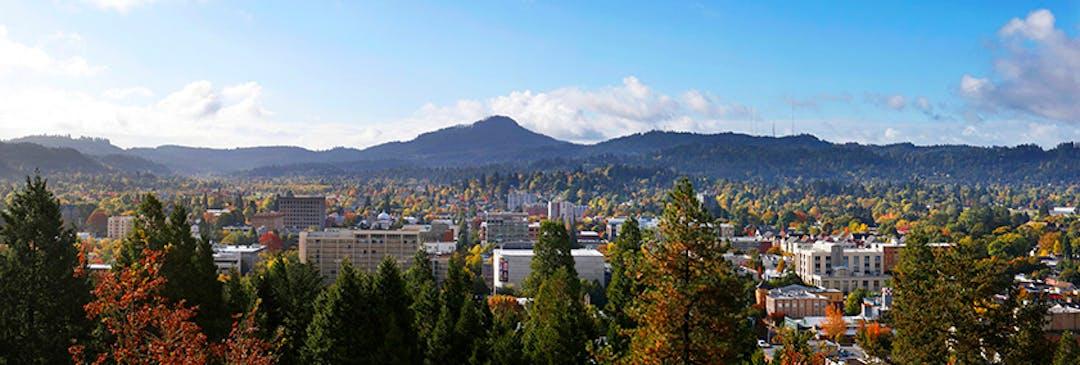 Panoramic view of Eugene.