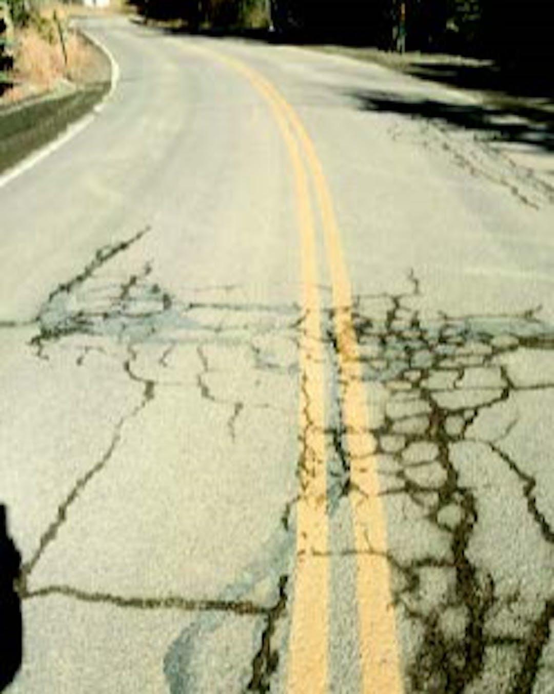 Damaged area of Soda Creek Road