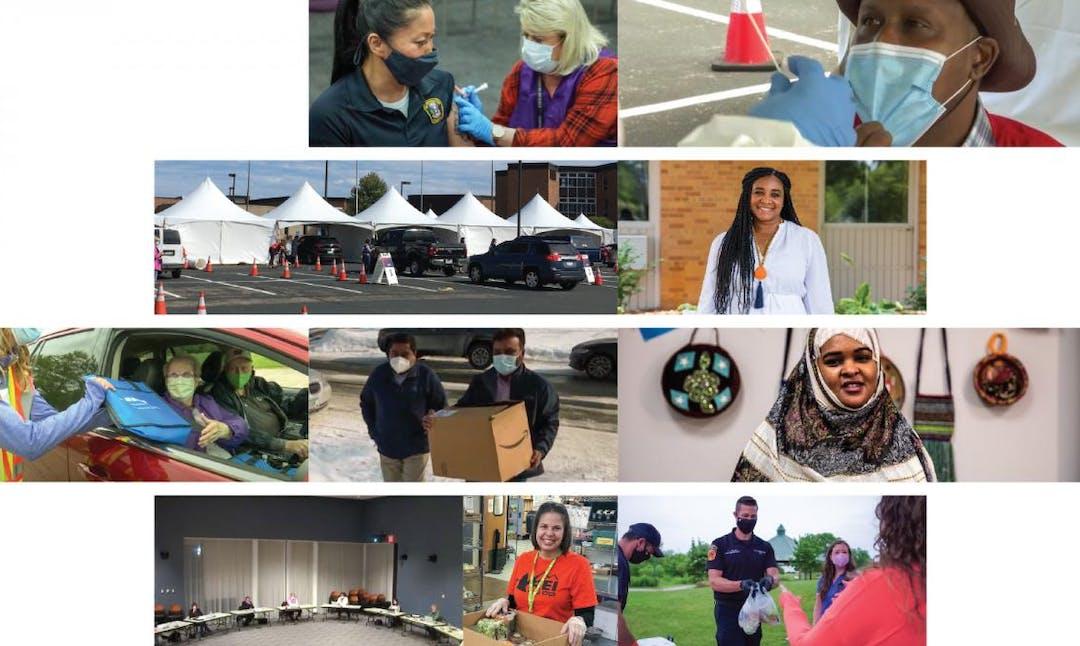 Various images of Bloomington community members