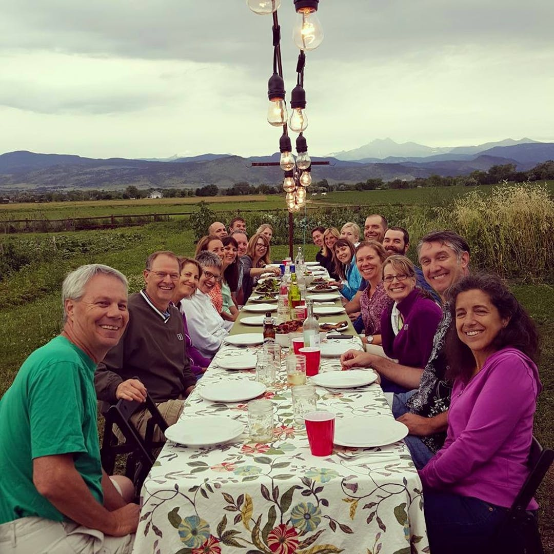 The Golden Ponds Neighborhood came together for a Farm to Table dinner in Longmont.