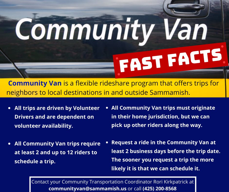 Community Van Fast Facts