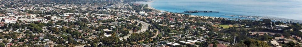 Overview of Santa Barbara looking east