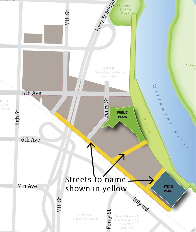 Map of Downtown Riverfront