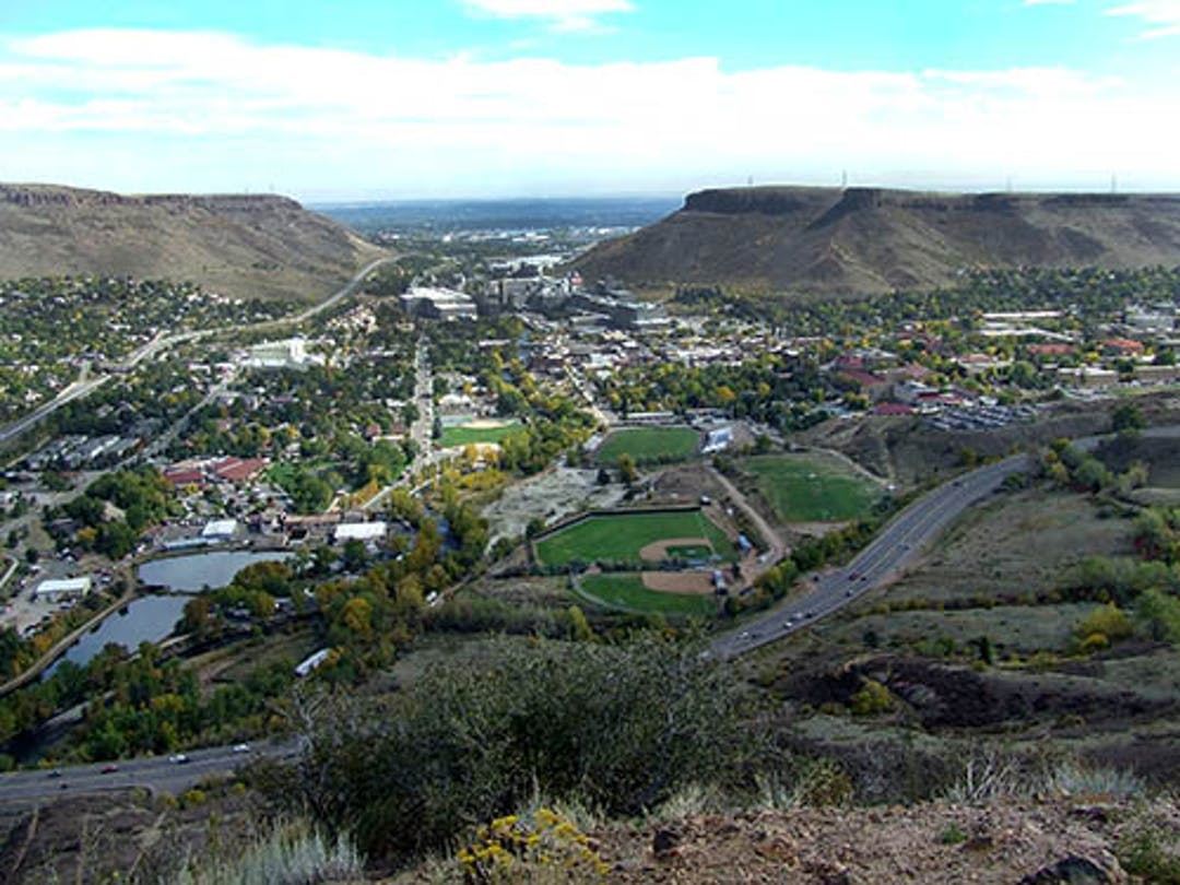Panoramic of the City of Golden looking east