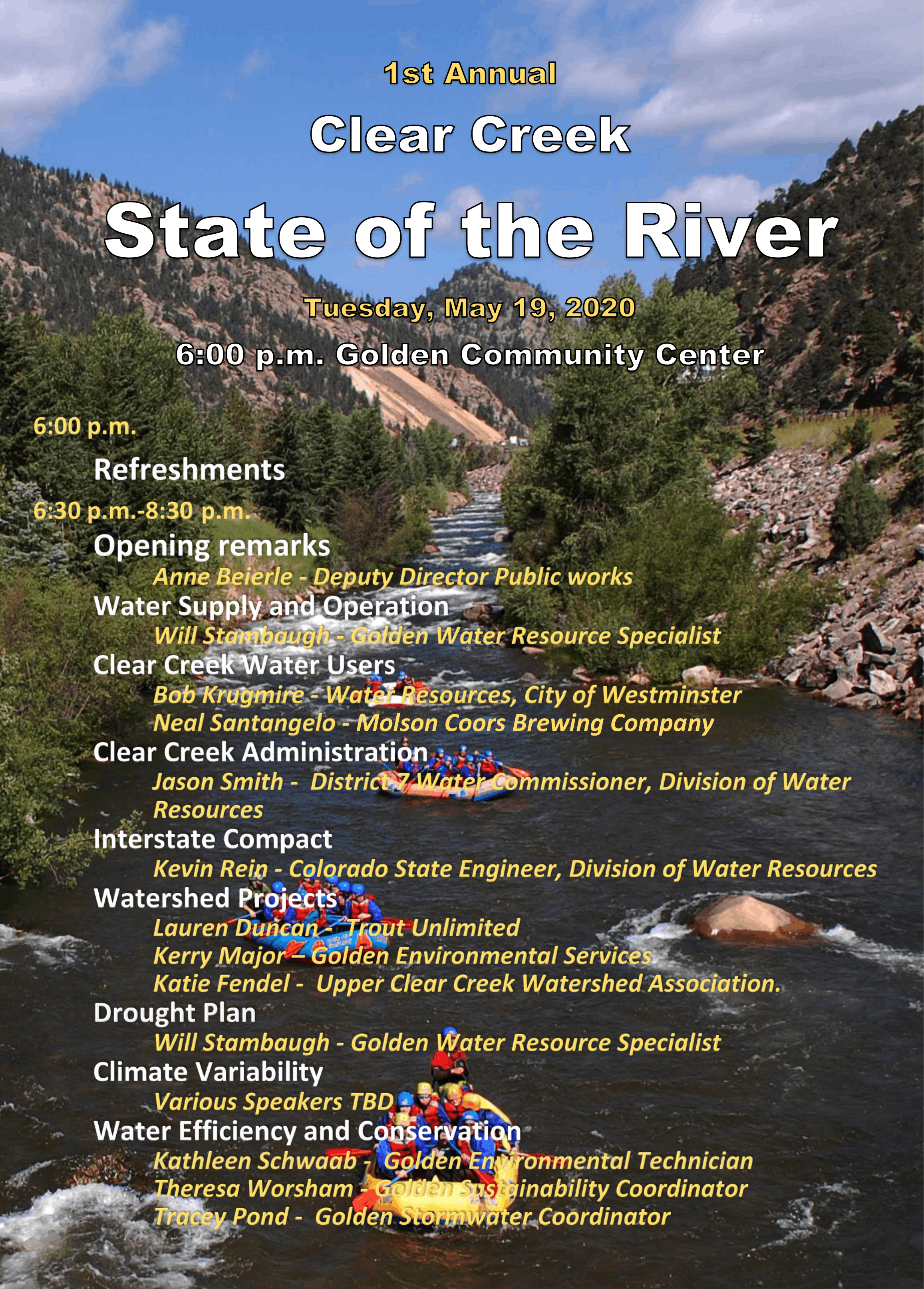 State of the River Topics & Speakers