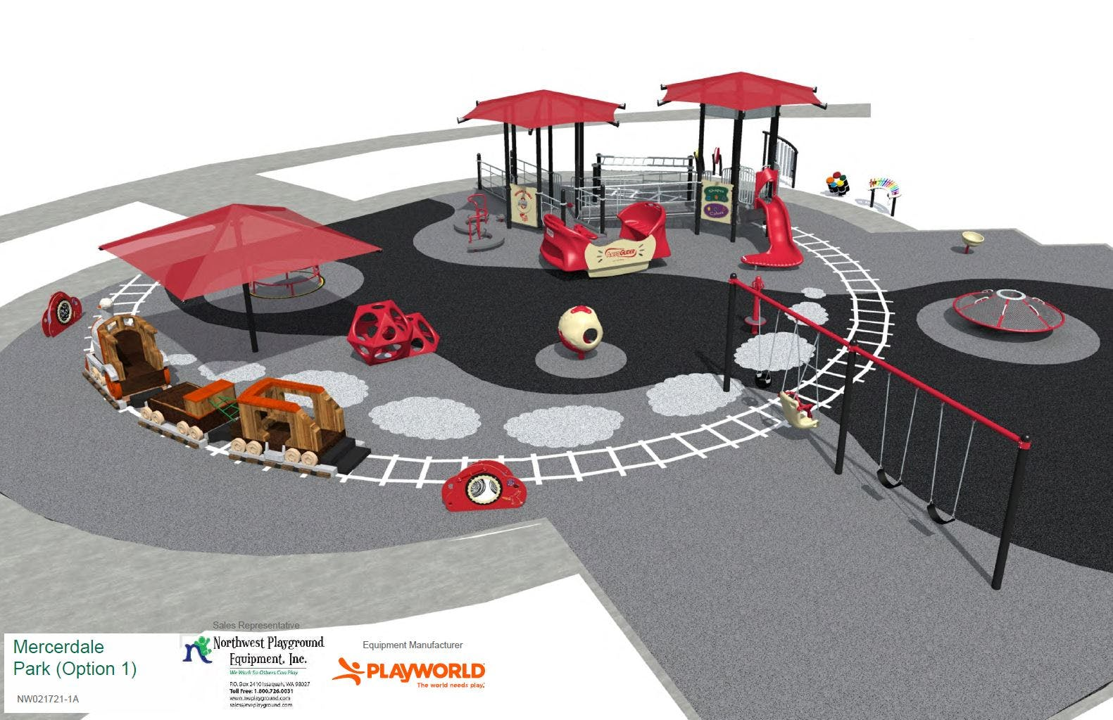 Proposed Playground Replacement - Rendering #1
