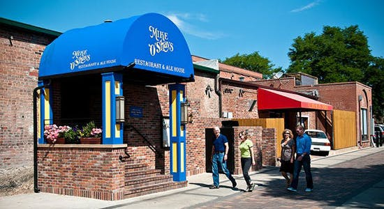 The alley entrance of Mike O Shays August 9, 2013